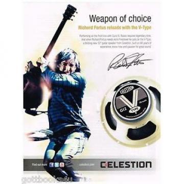 Celestion V-Type Speakers - Richard Fortus Guns N' Roses -  2014 Print Ad