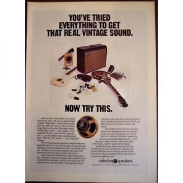 1987 original music AD Celestion Vintage Speakers