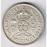 GREAT BRITIAN 1943 FLORIN TWO SHILLINGS GEORGE VI FOREIGN SILVER COIN NICE GRADE
