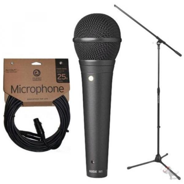 Rode M1 Live Performance Dynamic Cardioid Microphone w/ Stand and Mic Cable #1 image