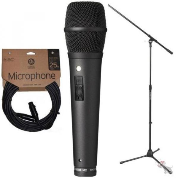 Rode M2 Live Condenser Super Cardioid Vocal Microphone w/ Stand and Mic Cable #1 image