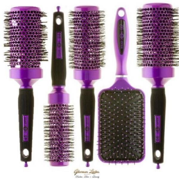 Radial Brosse De Cheveux Violet,Head Jog,Céramique Ionique,Professionnel Usage #1 image