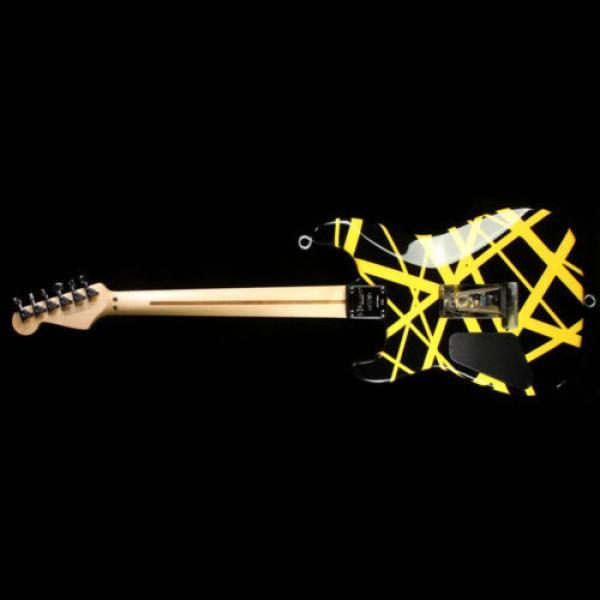 Used 2012 Charvel EVH Art Series Electric Guitar Black & Yellow #3 image