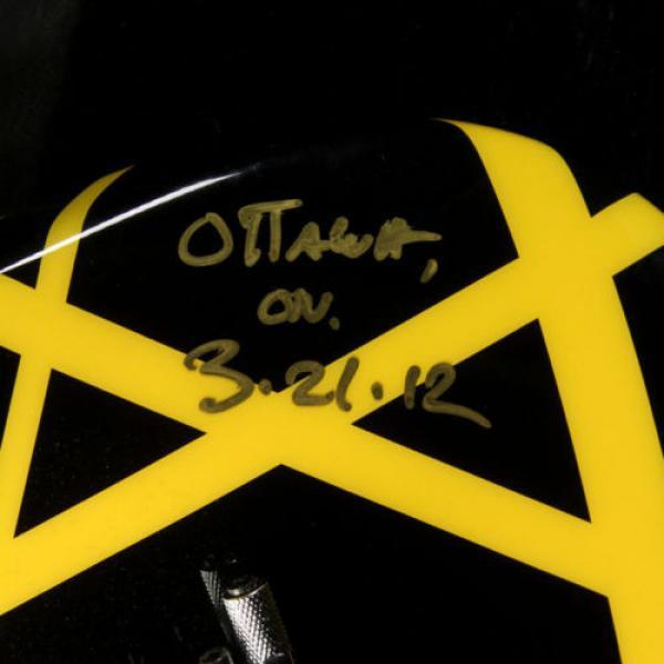 Used 2012 Charvel EVH Art Series Electric Guitar Black & Yellow #5 image