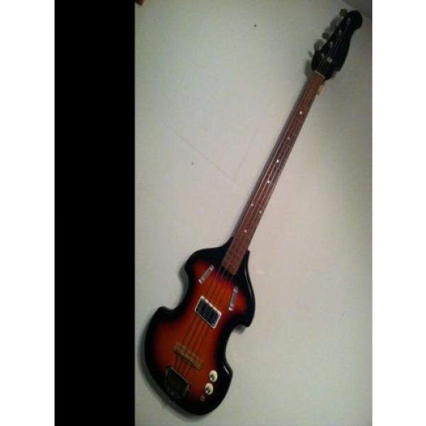 Airline vintage electric bass guitar Valco Supro Harmony Kay with case 60's USA #1 image