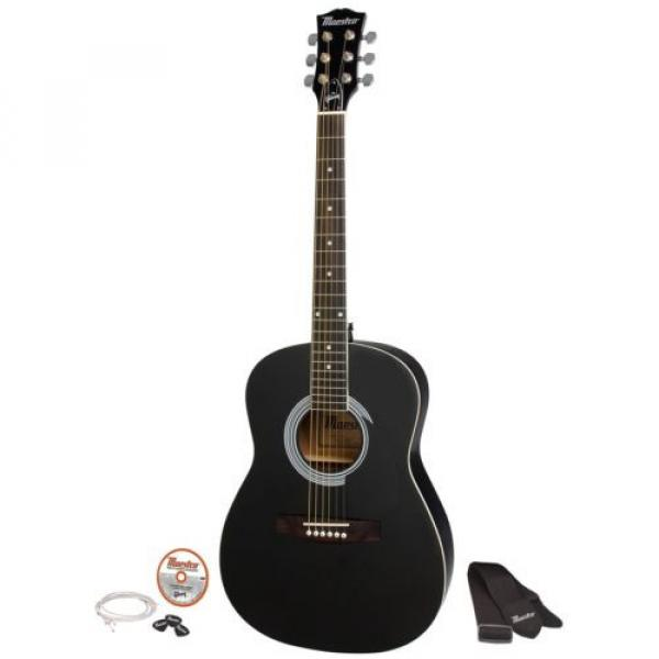 """Gibson Maestro 38"""" Parlor Size Acoustic Guitar Ebony with Accessories #1 image"""