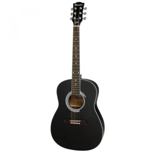 """Gibson Maestro 38"""" Parlor Size Acoustic Guitar Ebony with Accessories #2 image"""