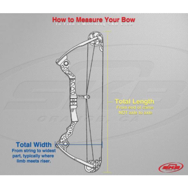 Black SKB Mathews Z7 Parallel Limb Bow Case 3i-4217-PL W/ 2 TSA locking latches #5 image