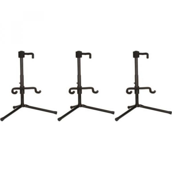 On-Stage Stands Push-Down, Spring-Up Locking Electric G... (3-pack) Value Bundle #1 image