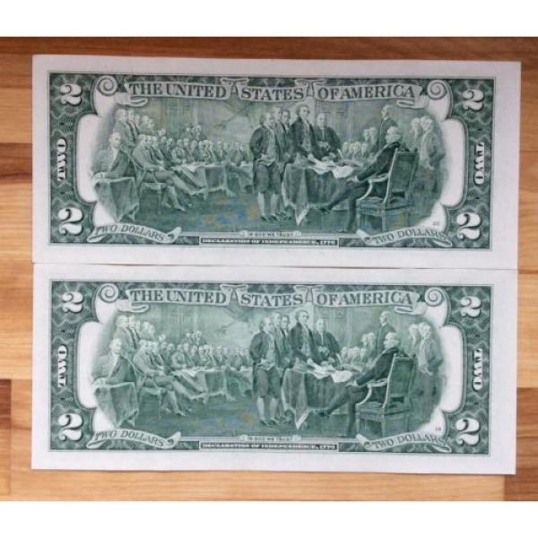 Two of 2009 USA $2 Two Dollar Paper Money Bank Note - No Tax #2 image